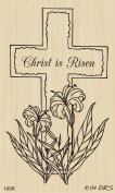 Cross with Flowers Rubber Stamp By DRS Designs