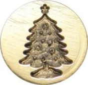 Christmas Tree 1.9cm diameter Brass Wax Seal Stamp