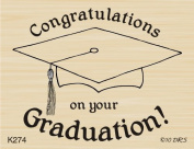 Congratulations Graduation Rubber Stamp By DRS Designs