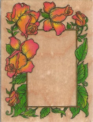 Classic Rose Frame Wood Mounted Rubber Stamp