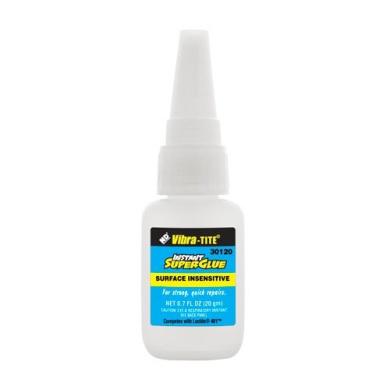 Vibra-TITE 301 General Purpose Surface Insensitive Superglue, 20 gm bottle, Clear