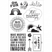 Basic Grey Fresh Cut Clear Stamps By Hero Arts-Oh, Fun