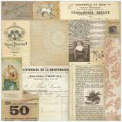 Melissa Frances Attic Treasures Cardstock, 30cm by 30cm , Madonna Collage