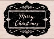 Hero Arts Chalkboard Merry Christmas Woodblock Stamp