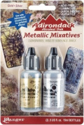 Tim Holtz TIM21247 Adirondack Alcohol Ink Metallic Mixatives .150ml 2/Pkg