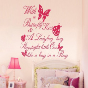Lovely Butterfly PVC Decor Girls Room Wall Sticker Mural Vinyl Art Decals EWQ0021