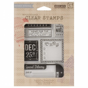 Basic Grey 25th & Pine Clear Stamps By Hero Arts-Dec. 25th