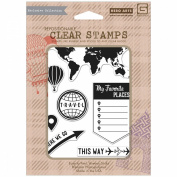 Basic Grey Carte Postale Clear Stamps By Hero Arts-My Favourite