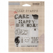 Basic Grey RSVP Clear Stamps By Hero Arts-Sweet Wishes