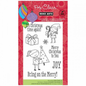 Hero Arts Clear Stamps 10cm x 15cm Sheet-Bring On The Merry