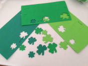 400 Assorted SHAMROCK FOAM Shapes/ADHESIVE Stickers/ARTS & CRAFTS/Scrapbooking ACTIVITIES/IRISH/St PATRICK'S DAY