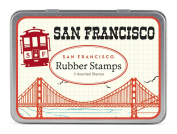 Cavallini 3 Assorted Rubber Stamps Sets, San Francisco