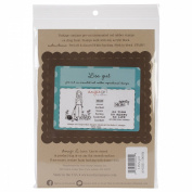 Angie Blom Unmounted Rubber Stamps 14cm x 18cm -Lisa Girl - Sporty Mom