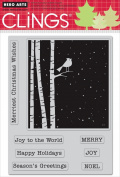 Hero Arts Rubber Stamps Merriest Christmas Wishes Cling Stamp Set
