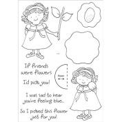 Honeypop Clear Stamp Set 10cm x 13cm -Pretty Posey
