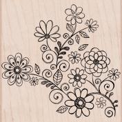 Hero Arts Woodblock Stamp, Flowers and Swirls