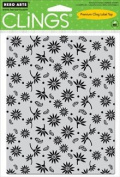 Asian Flower Pattern Cling Stamp