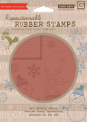 Hero Arts Rubber Stamps Nordic Holiday Smiling Snowman Cling Stamp Set