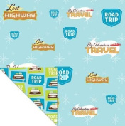 Creative Imaginations LOST HIGHWAY ROAD TRIP Double Sided SCRAPBOOK PAPER 30cm Square