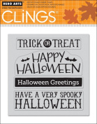 Halloween Messages Cling Stamp Set of 4