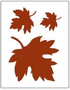 Faux Like a Pro Fallen Leaves Wall Stencil, 14cm by 18cm , Single Overlay