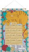 Bucilla Sleeping Cats 2013 Jewelled Felt Calendar Kit-41cm x 60cm