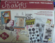 Clear Stamps Super Value Kit - 9 Pieces - 6 Packs of Clear Stamps
