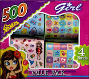 500 Girl Stickers 4 Sheets