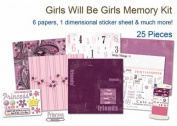 Girls Will Be Girls Scrapbook Kit