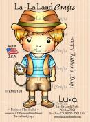 La-La Land Crafts Cling Rubber Stamp, Fedora Hat Luka