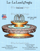 La-La Land Crafts Cling Rubber Stamp, Fountain