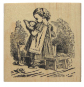 Nature's Blessings Fine Art Stamp, Girl with Doll