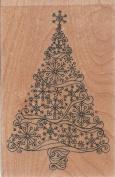 Winter Wonderland Tree Wood Mounted Rubber Stamp