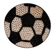 Crystal Heiress Rhinestone Sticker, Soccer Ball, 6.4cm , Silver/Black