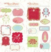 Autumn Leaves Chipboard Panels & Tags-A Rhonna Christmas