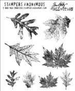 Stampers Anonymous Tim Holtz Cling Rubber Stamp Set, Falling Leaves