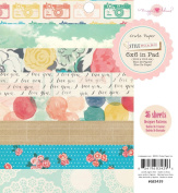 Crate Paper 36-Sheet Maggie Holmes Style Board Paper Pad, 15cm by 15cm