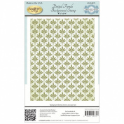 JustRite Papercraft Cling Background Stamp 11cm x 15cm -Dotted Fronds