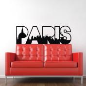 60*45CM PARIS Vinyl Art Mural PVC Decal Sticker Home Decorative Decor EWQ0038