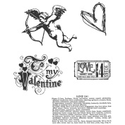 Stampers Anonymous Tim Holtz Cling Rubber Stamp Set, Love Struck