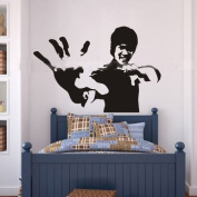 60*45CM Reach out Your Hands show Kung Fu PVC Vinyl Art Wall Sticker Boys Room Decals Home Decor S0132