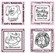 JustRite Stampers Original Stamps - Let's Celebrate