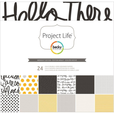 Project Life by Becky Higgins 12x12 Designer Paper - Midnight Edition