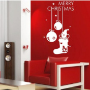 60*45CM Merry Christmas Lovely PVC Vinyl Art Wall Sticker Shopwindow Decorative Decals Home Decor. CH052