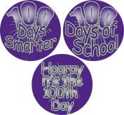 Ace Label 12089C Assorted '100 Days' Teacher School Stickers, 6.4cm , Multicolor, Roll of 100