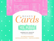 American Crafts Boxed Card Sets for Scrapbooking, 40 Cards/40 White Envelopes, Amy Tangerine Yes Please