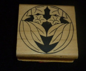 Artistic Flower Rubber Stamp