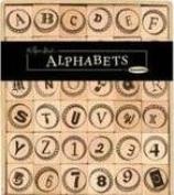 Bottlecap Alphabet and Number Wood Mounted Rubber Stamp Set