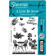 Sheena Douglas Unmounted Stamp Set 13cm - 1.3cm x 22cm -Silhouette Garden