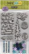 Winter Wonderland Clear Unmounted Rubber Stamp Set